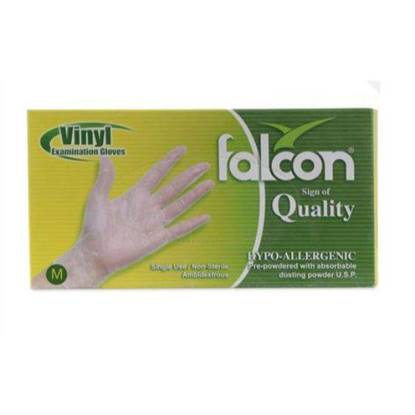 Picture of Falcon Nylon Gloves Size Medium  Single Use , Non Sterile 100 x 10