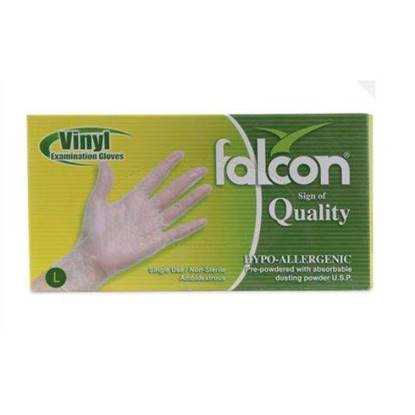 Picture of Falcon Nylon Gloves Size Large Single Use , Non Sterile 100 x 10