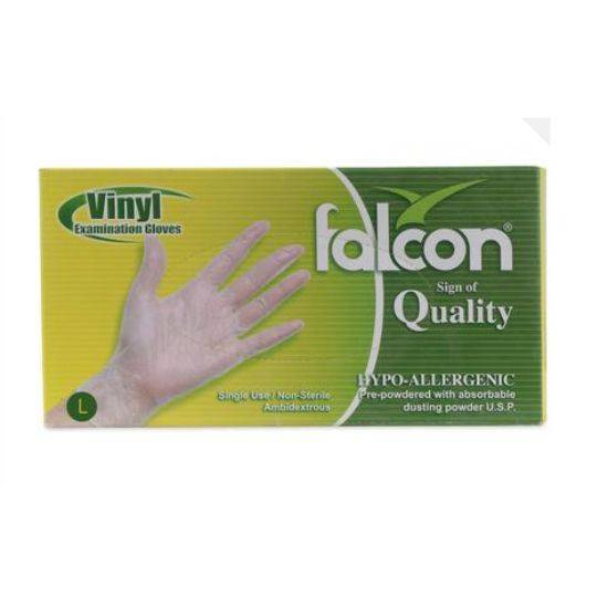 صورة Falcon Nylon Gloves Size Large Single Use , Non Sterile 100 x 10