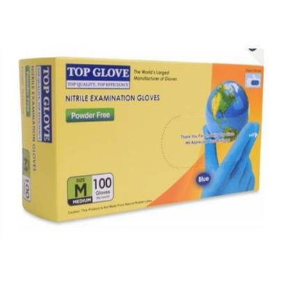 Picture of Top Gloves Latex Medical Gloves Size Medium Medical Use  100 x 10
