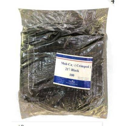 الصورة: Wataniya Natmed Crimped Hair Net Cotton Black Free Size 1 x 100 x 10