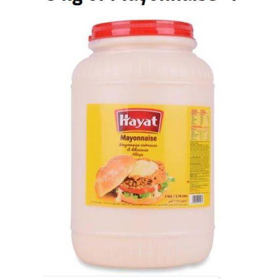 صورة Hayat  Mayonnaise gallon 1 x 3.78 kg