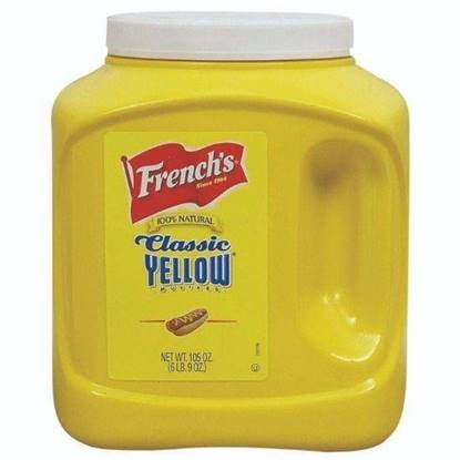 الصورة: French's Classic Yellow Mustard 4 x Gallon