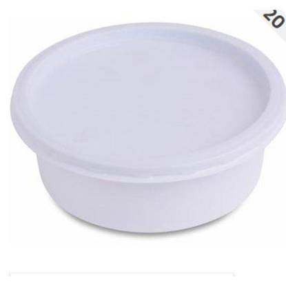 الصورة: Wataniya Parcel Container Plastic Round with Lid 8.5 Oz(( 116 mm × 41 mm)) 20 x 50=1000 pieces