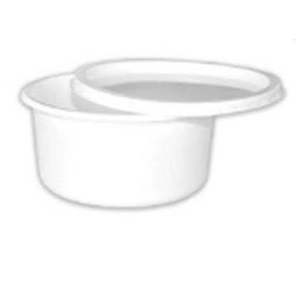 الصورة: Wataniya Parcel Container Plastic Round with Lid 12 Oz(( 116 mm × 58 mm)) 20 x 50=1000 pieces