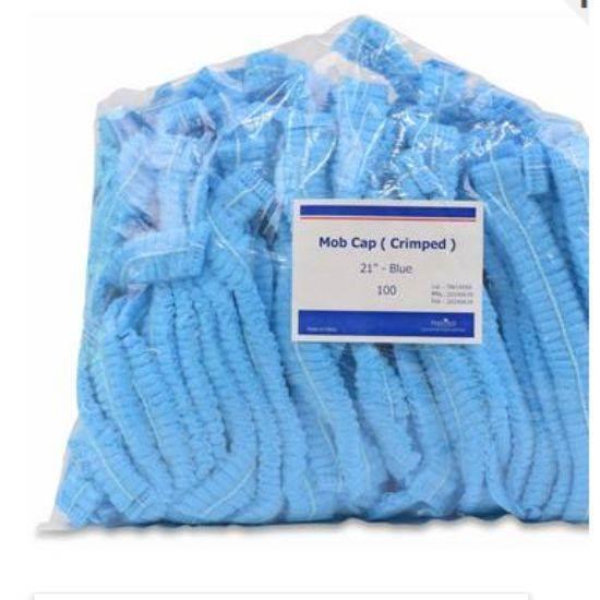 صورة Bono Hair Net Paper White + Blue Free Size 1 x 100 x 10
