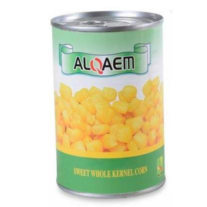 الصورة: Al Qaem Sweet Whole Corn Thailand -24 x 425g