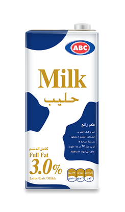 Picture of ABC Full Cream Plain Milk 1 L × 12 Pc
