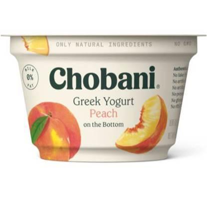 الصورة: شوباني روب يوناني فاكهة الخوخ خالي الدسم علبة بلاستيكية 5.3 أونصه