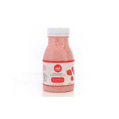 Picture of Alban Strawberry Flavored Milk Cow Full Fat Plastic Bottle 180ml