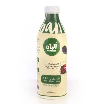 Picture of Alban Laban Cow Full Fat  Plastic Bottle 1L