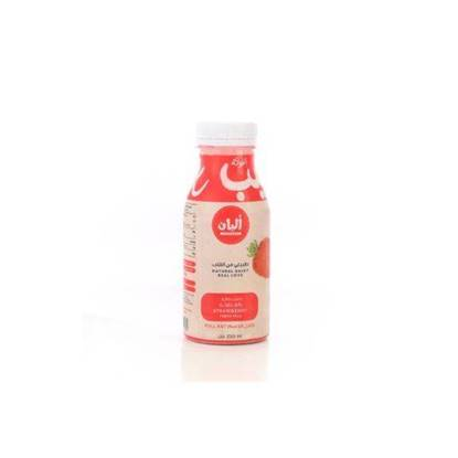 Picture of Alban Strawberry Flavored Milk Cow Full Fat Plastic Bottle 240ml