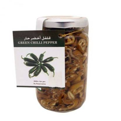 Picture of Farmers Market Hot Green Chili Pickles Glass Jar 250 g