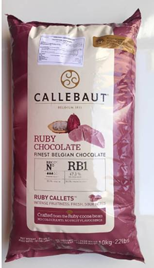Picture of Callebaut Ruby Chocolate (  10  KG * 1 Pouch )