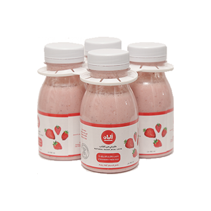Picture of Alban Strawberry Milk Cow Full Fat Plastic Bottle (3+1x180ml)