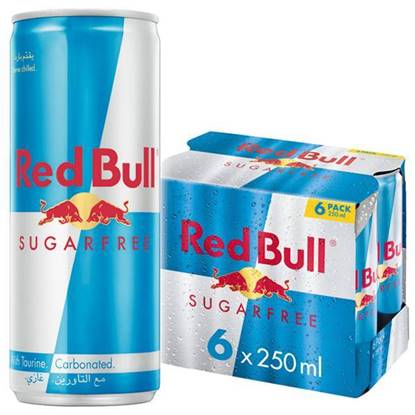 Picture of Red Bull energy drink sugar free 6 Pack 250 ML