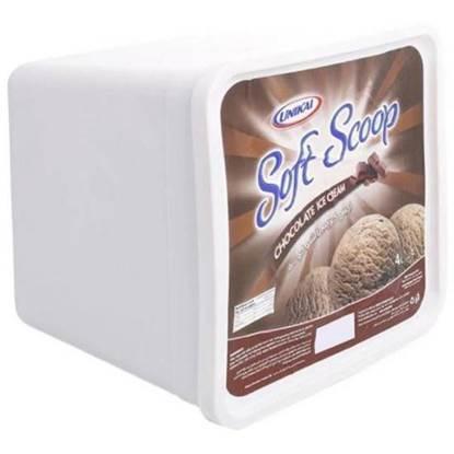 """Picture of 6 × 4 liter of Soft Scoop Chocolate Ice Cream """"Unikai"""""""