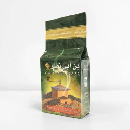 """الصورة: باكيت قهوة تركية مطحون """" ابي نصر """"  مع هيل 1 * 8 * 500 جرام"""