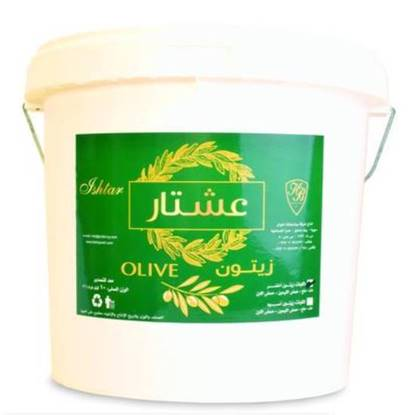 """Picture of 10 kg of Whole Green Olives """"Ishtar"""""""
