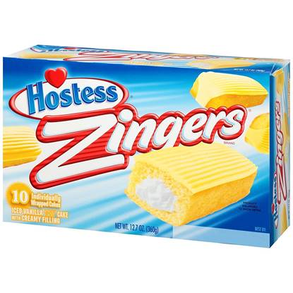 Picture of Hostess Zingers  Vanilla Pack of 10- 12.7 OZ
