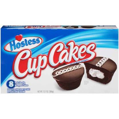 Picture of Hostess Cup Cakes Chocolate PACK OF 8  12.7OZ