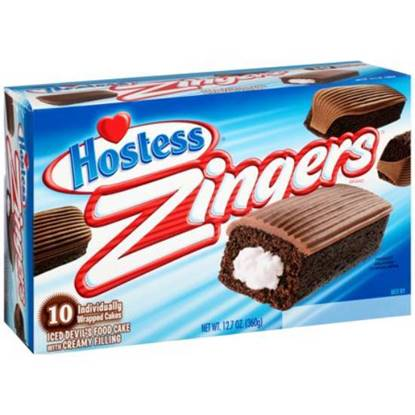 Picture of Hostess Zingers Choc Devil Food Pack of 10- 12.7OZ