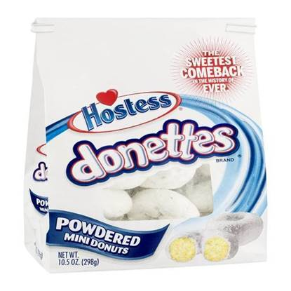 Picture of Hostess Donettes Powdered mini donuts - 10 OZ