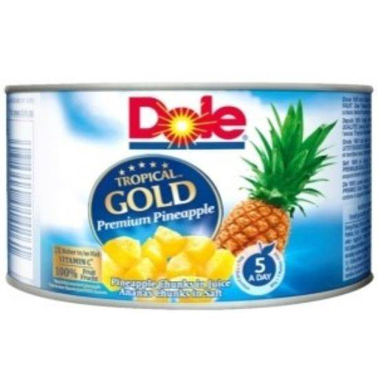 Picture of Dole Tropical Gold Pineapple Chunks 227 gr