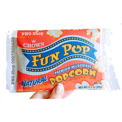 Picture of Crown  Fun pop  Natural  Pop Corn 99g