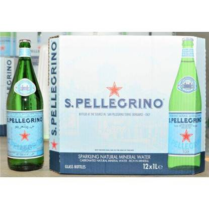 Picture of SAN PELLEGRINO SPARKLING NATURAL MINERAL WATER 12X1LTR GLASS