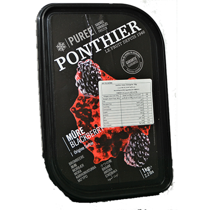 Picture of PONTHIER BLACKBERRY PUREE 1 kg