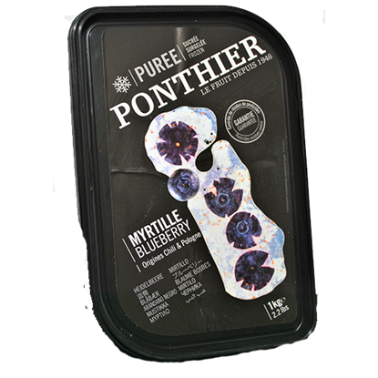 Picture of PONTHIER FROZEN BLUEBERRY PUREE 1 kg