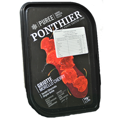 Picture of PONTHIER FROZEN MORELLO CHERRY FRUIT PUREE 1 kg