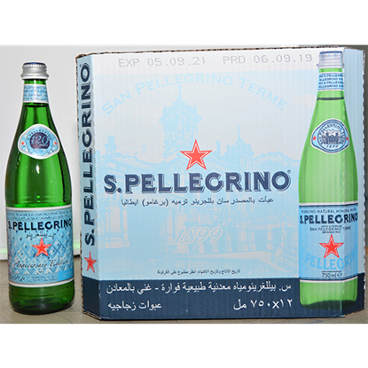 Picture of SAN PELLEGRINO SPARKLING NATURAL MINERAL WATER 12X750ML GLASS