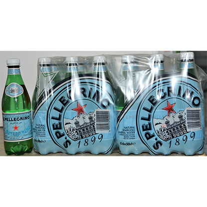 Picture of SAN PELLEGRINO SPARKLING NATURAL MINERAL WATER PLASTIC 24X500ML