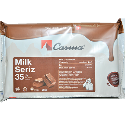 Picture of CARMA MILK SWISS LINE COUVETURE BLOCK 2 KG 35% COCOA