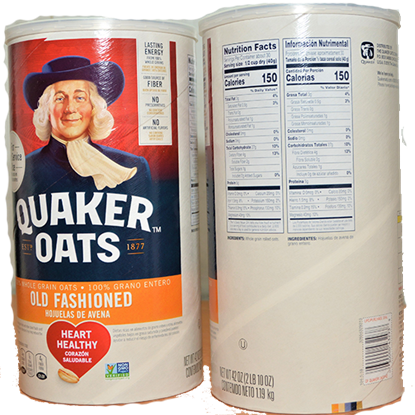 Picture of QUAKER OATS OLD FASHIONED 42 oz(1.190 kg)USA