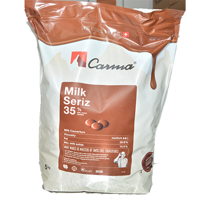 Picture of CARMA MILK SWISS LINE 35% COINS 5KG