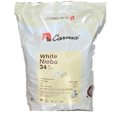 Picture of CARMA WHITE SWISS LINE 34% COINS 5KG