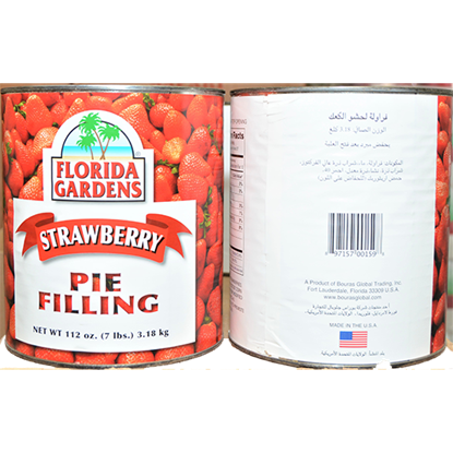 Picture of FLORIDA GARDEN STRAWBERRY FILLING  3.18 kg x 6