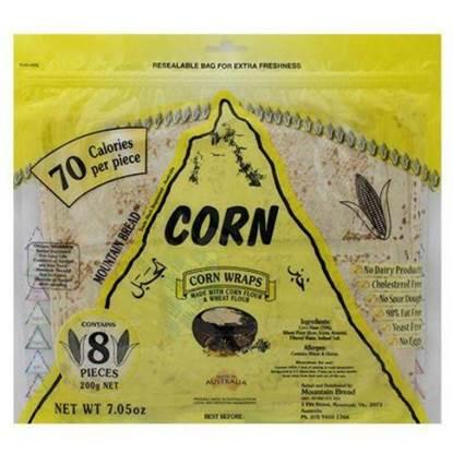Picture of Mountain Bread Corn Wraps 200g
