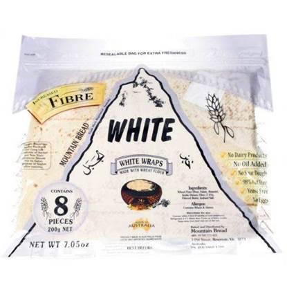 الصورة: خبز الجبن الأبيض يلتف مصدر الألياف 200 غ