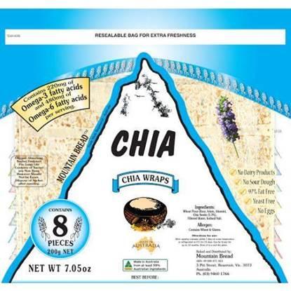 Picture of Mountain Bread Chia Wraps 200g