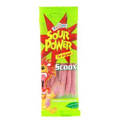 Picture of Fascini Sour Scoox Strawberry  sticks 40g