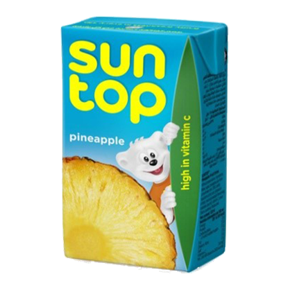 Picture of suntop pineapple drink 125 mlx 24