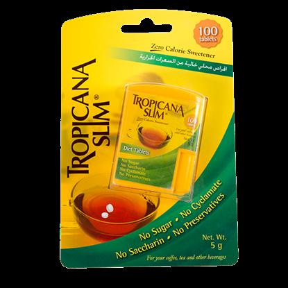 Picture of TROPICANA SLIM Sweetener Zero Calorie 100 Tablets 5g
