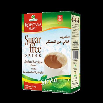 Picture of TROPICANA SLIM Sugar Free Drink Chocolate W.Stevia 120g (10 Sachet)