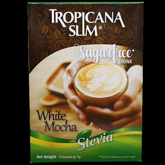 Picture of TROPICANA SLIM Sugar Free Drink White Mocha W.Stevia 110g (10 Sachet)