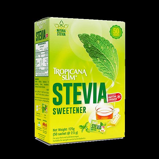 Picture of TROPICANA SLIM Sweetener Stevia W.Chromium 125g (50 Sachet)