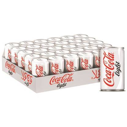 Picture of Coca-Cola Light Can 150ml 30Pack